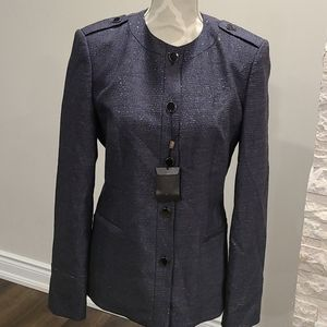 NWT Hugo Boss virgin wool blazer w metallic